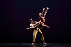 "Michelle Fleet and Robert Kleinendorst of Paul Taylor Dance Company in ""Syzygy"" Photo by Paul B. Goode"