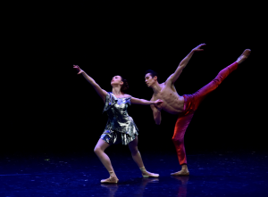 "Meaghan Dutton O'Hara and Daniel Applebaum of Tom Gold Dance in ""Counterpoint"" Photo by Eugene Gologursky"