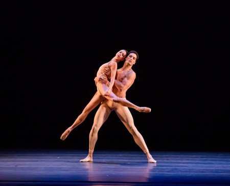 "April Daly and Fabrice Calmels of The Joffrey Ballet in Christopher Wheeldon's ""Fool's Paradise"" Photo by Cheryl Mann"