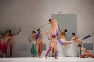 """Pacific Northwest Ballet dancers in Jessica Lang's """"Her Door to the Sky"""" Photo by Angela Sterling"""