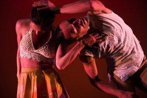 """Ballet Hispanico dancers in Michelle Manzanales's """"Con Brazos Abiertos"""" Photo by Paula Lobo"""