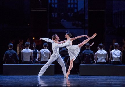 "Christine Rocas and Rory Hohenstein of the Joffrey Ballet in Krzysztof Pastor's ""Romeo & Juliet"" Photo by Cheryl Mann"
