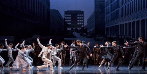 """Members of The Joffrey Ballet in Krzysztof Pastor's """"Romeo & Juliet"""" Photo by Cheryl Mann"""