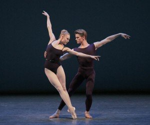 "New York City Ballet dancers Sara Mearns and Chase Finlay in Christopher Wheeldon's ""Polyphonia"" Photo by Paul Kolnik"