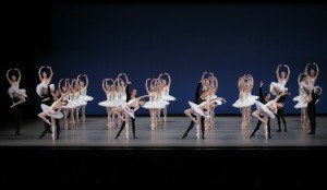 "New York City Ballet dancers in a prior performance of George Balanchine's ""Symphony in C"" Photo by Paul Kolnik"