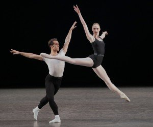 "Teresa Reichlen and Jared Angle in George Balanchine's ""The Four Temperaments"" Photo by Paul Kolnik"