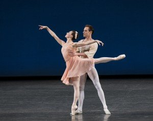 "Tiler Peck and Andrew Veyette in  George Balanchine's ""Allegro Brillante"" Photo by Paul Kolnik"
