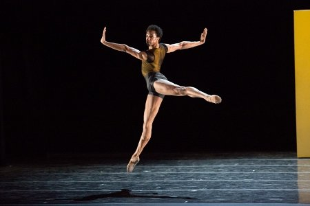 Pennsylvania Ballet Principal Dancer Jermel Johnson in Nacho Duato's Remansos Photo: Alexander Iziliaev