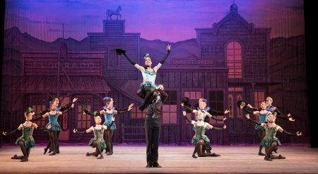 Artists of Pennsylvania Ballet in George Balanchine's Western Symphony Photo: Alexander Iziliaev