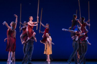 "Pacific Northwest Ballet dancers  in Christopher Wheeldon's  ""Carousel (A Dance)""    Photo by Angela Sterling"