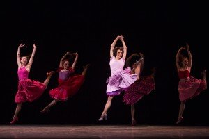 "Pacific Northwest Ballet dancers in Jerome Robbins's  ""West Side Story Suite"" Photo by Angela Sterling"