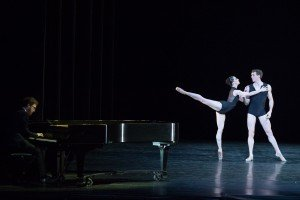 Nashville Ballet in Paul Vasterling's Concerto with composer Ben Folds on piano, photo by Teresa Wood