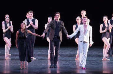 Curators Misty Copeland, Justin Peck, Host Sara Mearns with the Nashville Ballet, photo by Teresa Wood