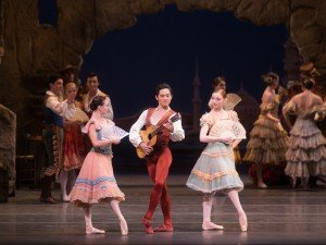 "Skylar Brandt, Jeffrey Cirio, Catherine Hurlin and members of American Ballet Theatre in ""Don Quixote"" Photo by Rosalie O'Connor"