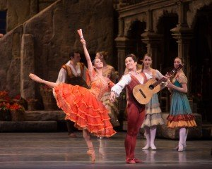 "Misty Copeland, Jeffrey Cirio,  and members of American Ballet Theatre in ""Don Quixote"" Photo by Rosalie O'Connor"