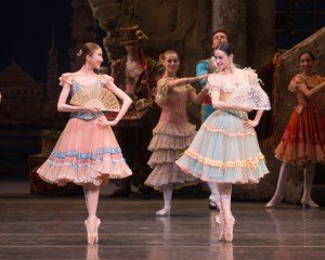 "Kaho Ogawa, Melanie Hamrick, and members of American Ballet Theatre in ""Don Quixote"" Photo by Rosalie O'Connor."