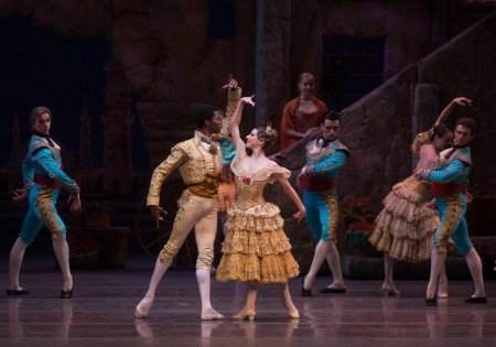 "Luciana Paris, Calvin Royal III and members of American Ballet Theatre, here in ""Don Quixote"" Photo by Rosalie O'Connor."