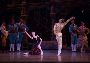 "Devon Teuscher, Blaine Hoven, and members of American Ballet Theatre in ""Don Quixote"" Photo by Rosalie O'Connor"