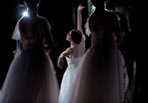 "Sarah Lane and members of American Ballet Theatre in ""Giselle,"" in performance in Oman. Photo by Khalid Al-Busaidi"