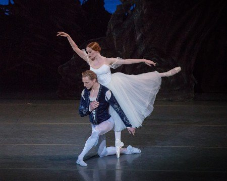 "David Hallberg, here with Gillian Murphy, in a prior performance of ""Giselle"" Photo by Khalid Al-Busaidi."