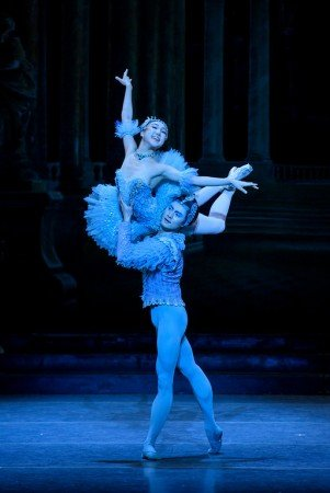"Boston Ballet dancers Ji-Young Chae and Junxiong Zhao in Marius Petipa's ""The Sleeping Beauty"" Photo by Liza Voll"