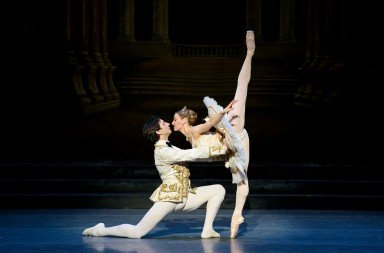 "Boston Ballet dancers  Ashley Ellis and Eris Nezha  in Marius Petipa's ""The Sleeping Beauty""     Photo by Liza Voll"