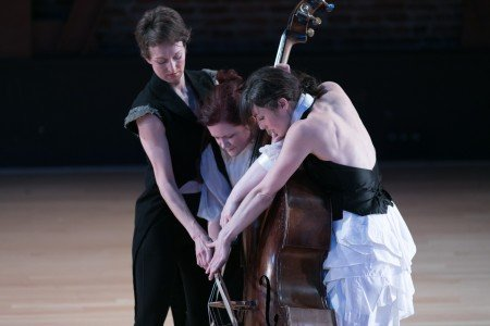Lauren Simpson, Lisa Mezzacappa & Tara McArthur in Touch Bass Photo Margo Moritz