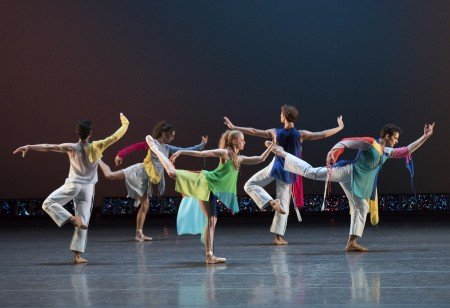 "New York City Ballet dancers in Troy Schumacher's ""Common Ground"" Photo by Paul Kolnik"