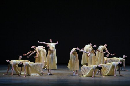 "New York City Ballet dancers in a prior performance of Alexei Ratmansky's ""Namouna, A Grand Divertissement"" Photo by Paul Kolnik"