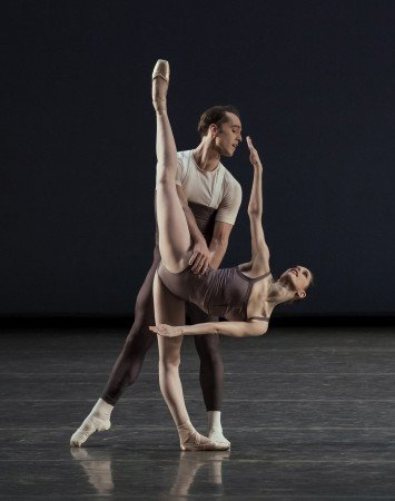 "New York City Ballet dancers Rebecca Krohn and Jared Angle in Justin Peck's ""The Decalogue"" Photo by Paul Kolnik"