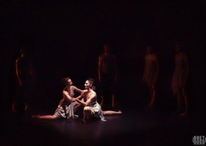 """Christin Call and Hannah Simmons of Coriolus Dance in Natascha Greenwalt's """"Transit of Metis"""" Photo by Bret Doss Photography"""