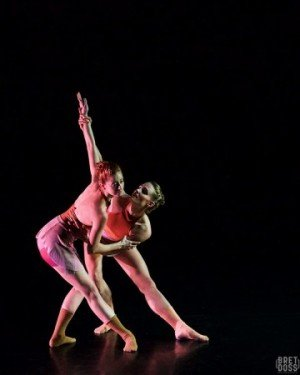"Christin Call and Marissa Quimby of Coriolus Dance in Natascha Greenwalt's ""Transit of Metis"" Photo by Bret Doss Photography"