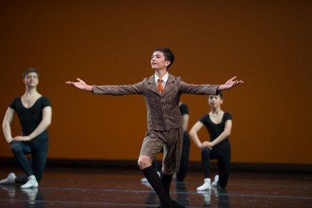 """School of Oregon Ballet Theatre students in """"A Great Britten"""" by Alison Roper & Tony Jones Photo by Yi Yin"""