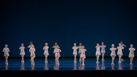 """School of Oregon Ballet Theatre students in """"A Grand Etude"""" Photo by Yi Yin"""