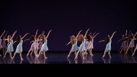 """School of Oregon Ballet Theatre students in """"Walpurgisnacht Ballet"""" by George Balanchine Photo by Yi Yin"""