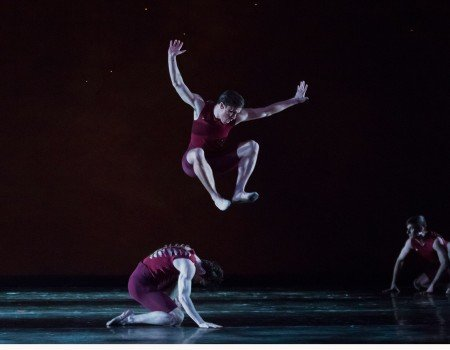 "Oregon Ballet Theatre dancer Peter Franc  in Helen Pickett's ""Terra""   Photo by James McGrew"