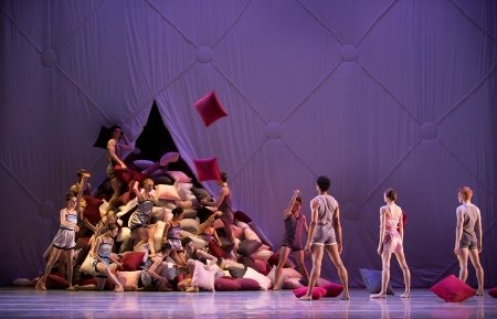"Artists of Pennsylvania Ballet in Matthew Neenan's ""Somnolence"" Photo by Alexander Iziliaev"