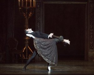 "Alessandra Ferri and Roberto Bolle in John Cranko's ""Onegin"" Photo by Gene Schiavone"