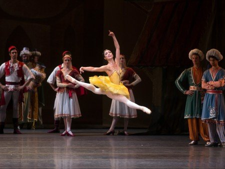 "American Ballet Theatre dancer Stella Abrera and members of the company in ""Le Corsaire"" Photo by Rosalie O'Connor"