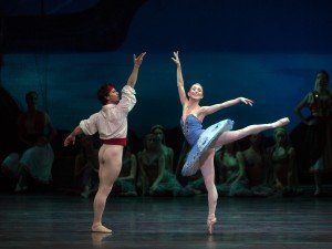 "American Ballet Theatre dancers Skylar Brandt and Herman Cornejo in ""Le Corsaire"" Photo by Rosalie O'Connor"