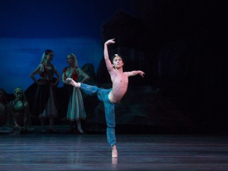 "American Ballet Theatre dancer Jeffrey Cirio and members of the company in ""Le Corsaire"" Photo by Rosalie O'Connor"