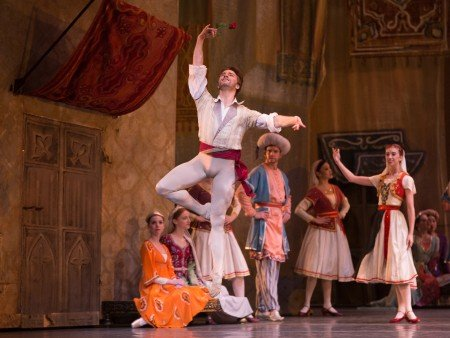 "American Ballet Theatre dancer Alban Lendorf and members of the company in ""Le Corsaire"" Photo by Rosalie O'Connor"