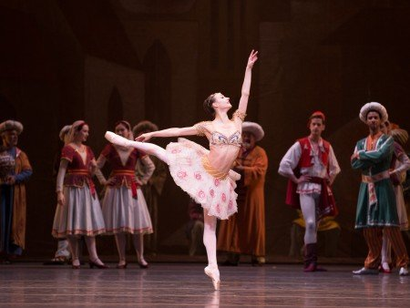 "American Ballet Theatre dancer Christine Shevchenko and members of the company in ""Le Corsaire"" Photo by Rosalie O'Connor"