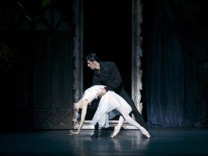 "Diana Vishneva and Marcelo Gomes in John Cranko's ""Onegin"" Photo by Gene Schiavone"