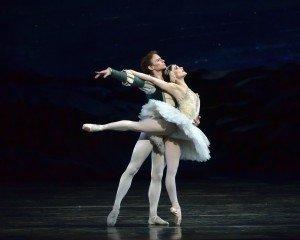 """American Ballet Theatre dancers Sarah Lane and Daniil Simkin in """"Swan Lake"""" Photo by Gene Schiavone"""
