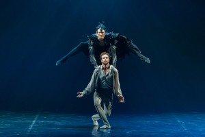 "Eifman Ballet dancers Oleg Gabyshev and Sergey Volobuev in ""Tchaikovsky.Pro et Contra"" Photo by Evgeny Matveev"