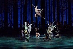 "Harrison Ball and New York City Ballet dancers in George Balanchine's ""A Midsummer Night's Dream"" Photo by Paul Kolnik"