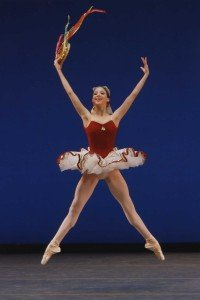 "New York City Ballet dancer Erica Pereira in George Balanchine's ""Tarantella"""