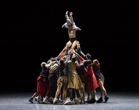 "New York City Ballet dancers in Justin Peck's ""The Times Are Racing"" Photo by Paul Kolnik"