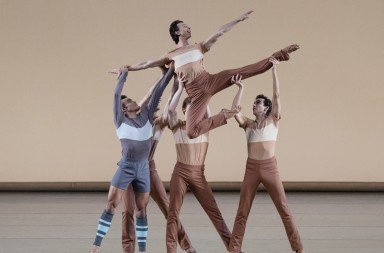 "New York City Ballet dancers  in Justin Peck's  ""Rodeo: Four Dance Episodes""   Photo by Paul Kolnik"